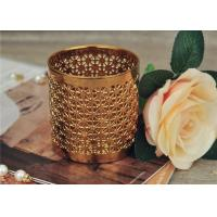 Wholesale Golden Pottery Home Decor Candle Holders Glazing Outside And Inside Wall from china suppliers