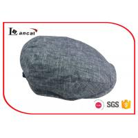 Wholesale Satin Lining Wool Flat Cap For Men , Ribbed Sweatband Wool Ivy Cap from china suppliers