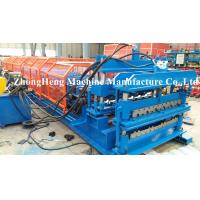 Wholesale European Style Glazed Tile / Double Layer Roll Forming Machine , Partial Arc Color Steel Roof Tile Roll Forming Machine from china suppliers