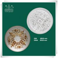 Wholesale Chinese manufacturer interior decorative gypsum plaster gesso ceiling rose from china suppliers
