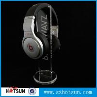 Wholesale clear round base holder earphone clear acrylic holder for earphone wholesale from china suppliers
