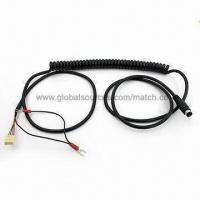 Wholesale Spiral Mini DIN Cable with MD Male to 4 Pin Housing and Y Terminal x 2 Coil Wire Cable from china suppliers