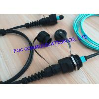 Wholesale Armored ODVA MPO Fiber Optic Patch Cord , OM3 10G fibre patch cables For FTTA from china suppliers