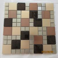 Quality 304 stainless steel mosaic tiles with glass for sale