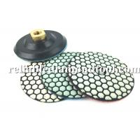 Wholesale 10 PCS 4 Inch Diamond Polishing Pads Dry With 1 PCS Backer Up Pad from china suppliers