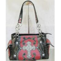 Wholesale bling western cowgirl cross conch shoulder bags with black trim from china suppliers