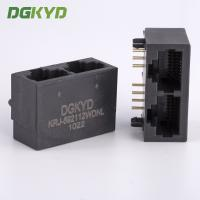 Wholesale 21.3mm Side Entry Tap Down 2 Port RJ45 Modular Jack Without Transformer from china suppliers