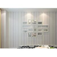 Wholesale Modern Striped Wallpaper Interior Decoration Wallpapers White And Purple Removable from china suppliers
