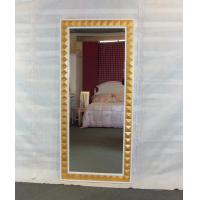 Wholesale Golden third dimension framed full length floor mirror from china suppliers