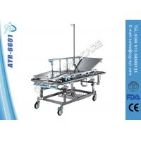 Wholesale Manual Adjustable Stainless Steel Patient Transport Stretcher Trolley With Infusion Pole from china suppliers