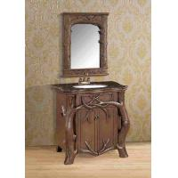 Wholesale Hotel European Fiberglass Bathroom Vanity Cabinets with Wall Mirror from china suppliers