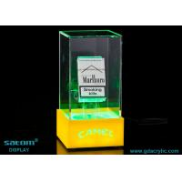 Quality Rotating Cigarette Display Cabinet / case , The Colorful Light Catch People's Eye for sale