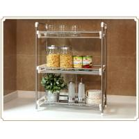 Wholesale Multifunctional Stainless Steel Kitchen Towel Rack , Three Layer Article Rack from china suppliers