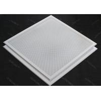 Wholesale T 15 Matched 595x595mm Aluminum or Steel  Lay in Ceiling Tiles Perforated or Plain White from china suppliers