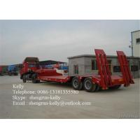 Quality Heavy Duty Truck Howo 30 ton Low Flatbed Semi Trailer Truck  30T - 60T for sale