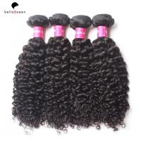 Wholesale Health Water Wave Pure Virgin Indian Curly Hair #1B Black Women Hair Extension from china suppliers