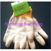 Wholesale Seamless CE PU Coated Glove , 13 Gauge Polyester Lined Fingertip Coated PU Glove from china suppliers