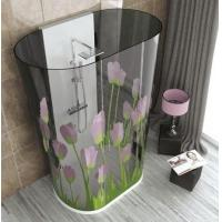 Wholesale Tinted Curved Digital Printing Glass , Glass Shower Partition For Hotel from china suppliers