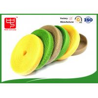 Colored hook and loop tape 25mm wide self adhesive velcro tape roll  25m / roll