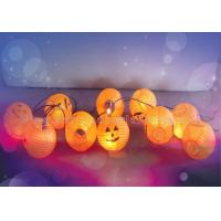 Wholesale Lovely Paper Lantern String Lights Pumpkin Lantern For Party , Halloween Decoration from china suppliers