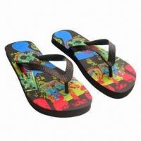 Wholesale Men's PE Flip-flops, Used for Beach, Suitable for Spring, Autumn and Summer Season from china suppliers