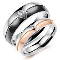 Wholesale Rose Gold Custom Couple Rings Silver Classical Jewelry Unisex For Lovers from china suppliers
