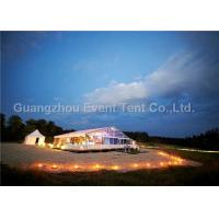 Wholesale Outdoor Exhibition Clear Span Tent Double PVC Fabric With Glass Door 3.95M Eave Height from china suppliers