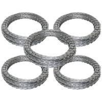 China Customized Concertina Razor Wire , PVC Coated Razor Wire High Tensile on sale