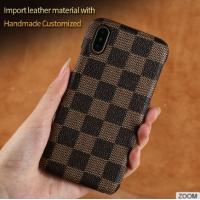 Wholesale iPhone 8 PU Leather Classic Grid Cell Phone Covers cases Multi Color from china suppliers