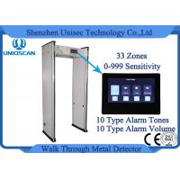 Wholesale High Sensitivity 33 Zones Security Walk Through Metal Detector Gate With 6 Digital Count from china suppliers