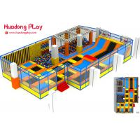 Commercial Grade Trampoline Park Equipment , Indoor Rectangular Trampoline 200sqm