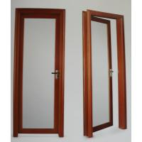 Quality 1.4mm profile thickness red wood, cherry aluminum hinged doors for residential for sale
