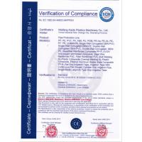Weifang Kaide Plastics Machinery Co., Ltd Certifications