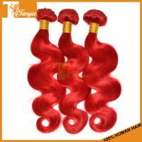 Wholesale 5A Brazilian Body Wave Red Hair Dye Colors Human Hair Extension from china suppliers
