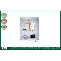 Wholesale Household Shelf Storage Unit metal display rack stand on wheels for clothing from china suppliers