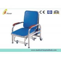 Wholesale Hospital Furniture Chairs , Stainless Steel Accompany Chair With Gray Rubber Casters (ALS-C05b) from china suppliers