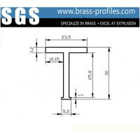 Wholesale 30mm x 24mm Solid Brass Flat T-bar Industrial Copper L Profiles from china suppliers