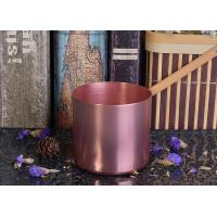 Wholesale OEM Tin Candle Holders 8oz Wax Filling Rose Gold Votive Metal Candle Jar from china suppliers
