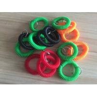 Buy cheap Colorful wrist badge accessories stretchable wrist coil bands plastic promotional key ring from wholesalers