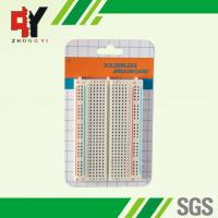 Wholesale Square Hole Solderable Breadboard Red / Blue Strips For Power Supply Connections from china suppliers
