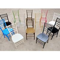 Wholesale Fabric / PU Leather Wedding Resin Tiffany Chairs Blue / Black from china suppliers