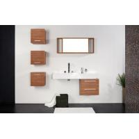 Wholesale Luxury bathroom ceramic bathroom square single basin with cabinet from china suppliers