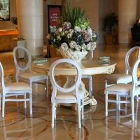 Wholesale Hot Sale cane back dining chairs resin louis chair china cadeiras white wedding chair from china suppliers