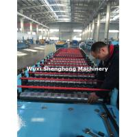 Wholesale Hydraulic Metal Glazed Roof Tile Making Machine , Tile Forming Machine from china suppliers