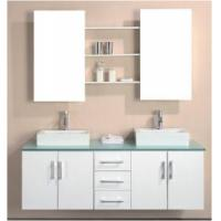 Wholesale Elegant Design High Gloss White Color MDF Bathroom Vanity  (BL-1500) from china suppliers