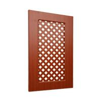 Buy cheap Ventilated Replacement Bathroom Cupboard Doors With Wood Grain Pvc Film Surface from wholesalers