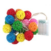 Wholesale Colorful Rattan Ball LED Decorative String from china suppliers