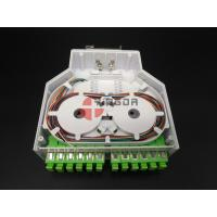 Wholesale DIN Plastic Fiber Optic Terminal Box 12 Ports SC/APC Adapters and Pigtails from china suppliers