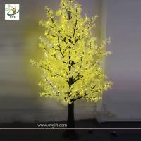 Wholesale UVG Artificial Maple Tree Yellow LED lighting Decoration from china suppliers