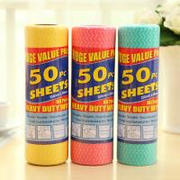 Wholesale Red Green Blue Non Woven Wet Wipes / Hand Towel Rolls 25*28cm or Customized from china suppliers